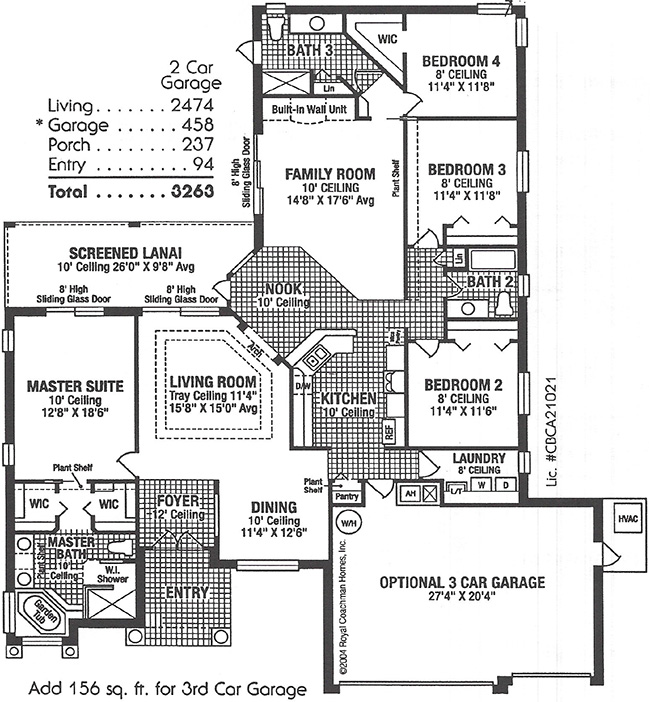 Royal Kensington IV Elite Floorplan